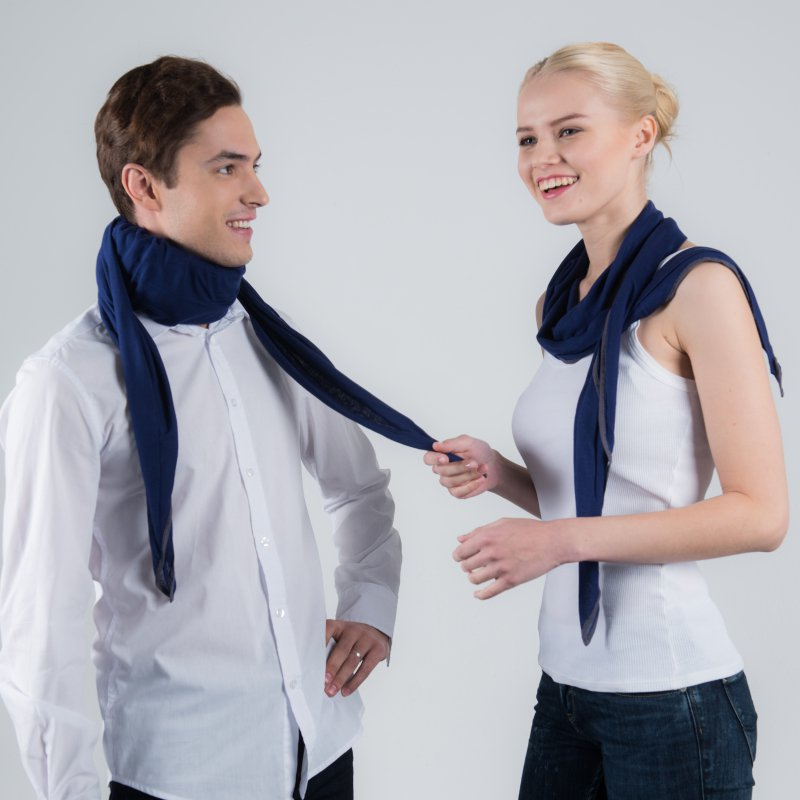 scarf cover blue neck brace