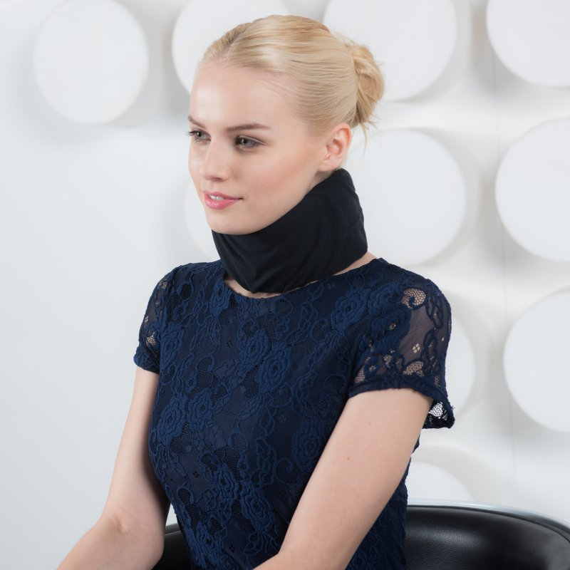 cervical collar black cover silk